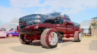 How Texas does truck shows part 2, including lifted SEMA trucks and Bagged Silverados.