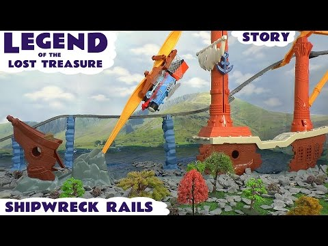 Thomas And Friends Legend Of The Lost Treasure Trackmaster Shipwreck Rails Set Play Doh Story video