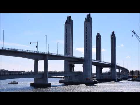 The new Sarah Mildred Long Bridge  Portsmouth NH Kittery ME April 7 2018