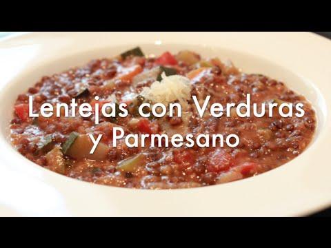 Lentejas con Verduras y Parmesano - Recetas con Olla express o rápida