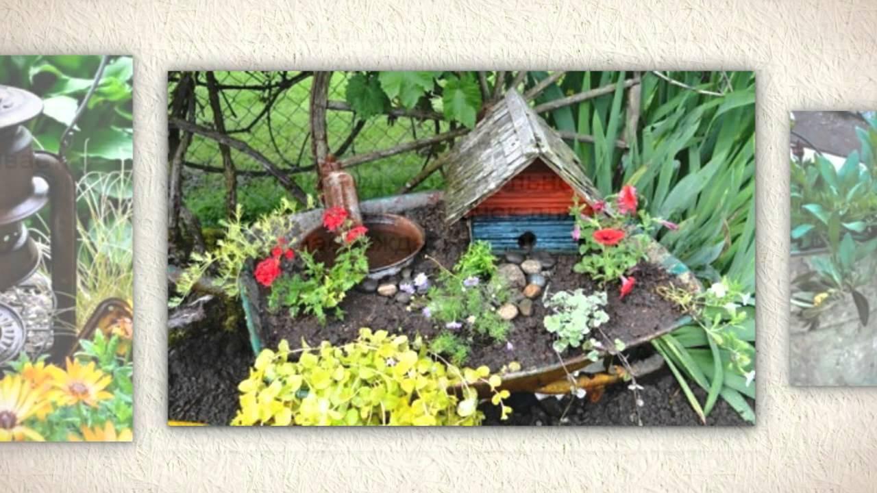 Фото оформление садового участка своими руками из подручных материалов фото 86