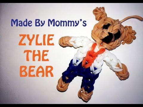 Zylie the Bear Rainbow Loom Action Figure Charm