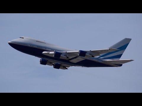 Las Vegas Sands Boeing 747-SP [VP-BLK] Departing LAX.
