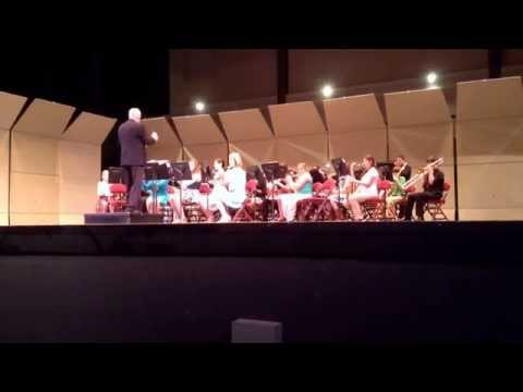 LeBlanc Middle School stage performance - District Competition, song 1