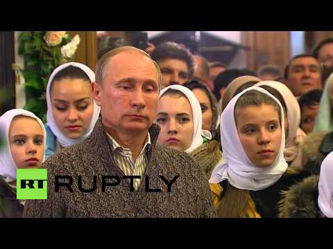 Russia: Putin attends Orthodox Christmas Eve Mass in Voronezh
