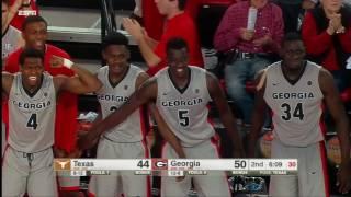 Georgia vs Texas Basketball Highlights 1-28-17