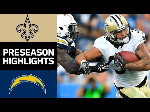 Saints Vs Chargers Nfl Preseason Week 2 Game Highlights