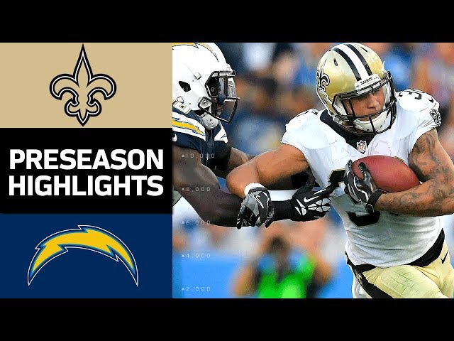 Saints vs. Chargers  NFL Preseason Week 2 Game Highlights