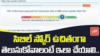 సిబిల్ స్కోర్ ఉచితంగా తెలుసుకోవాలంటే ఇలా  చేయాలి | Easy Steps to Check CIBIL Score for Free | YOYOTV