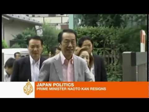 Naoto Kan resigns as Japan PM