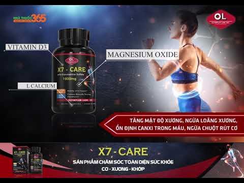 X7-Care sản phẩm chăm sóc hệ cơ xương khớp toàn diện nhất