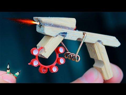 Как сделать мини пушку своими руками / How to make a mini gun