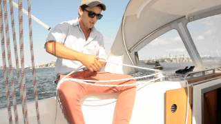 Bavaria 32 Cruiser - How to unfurl a selden in-mast furling main