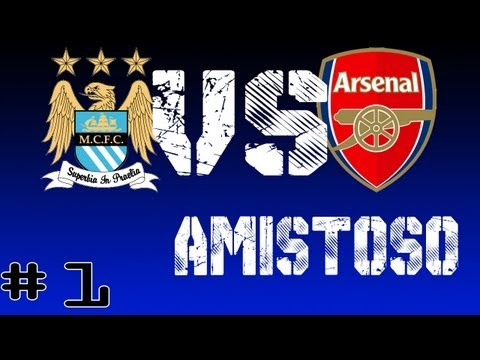 PES 2013 Amistoso Nº 1  Manchester City vs Arsenal FC