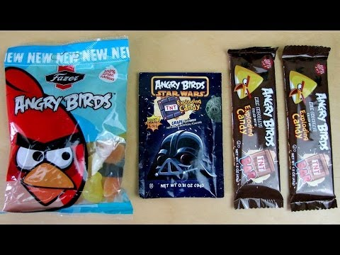 Angry Birds Exploding Candy TNT Chocolate Bar