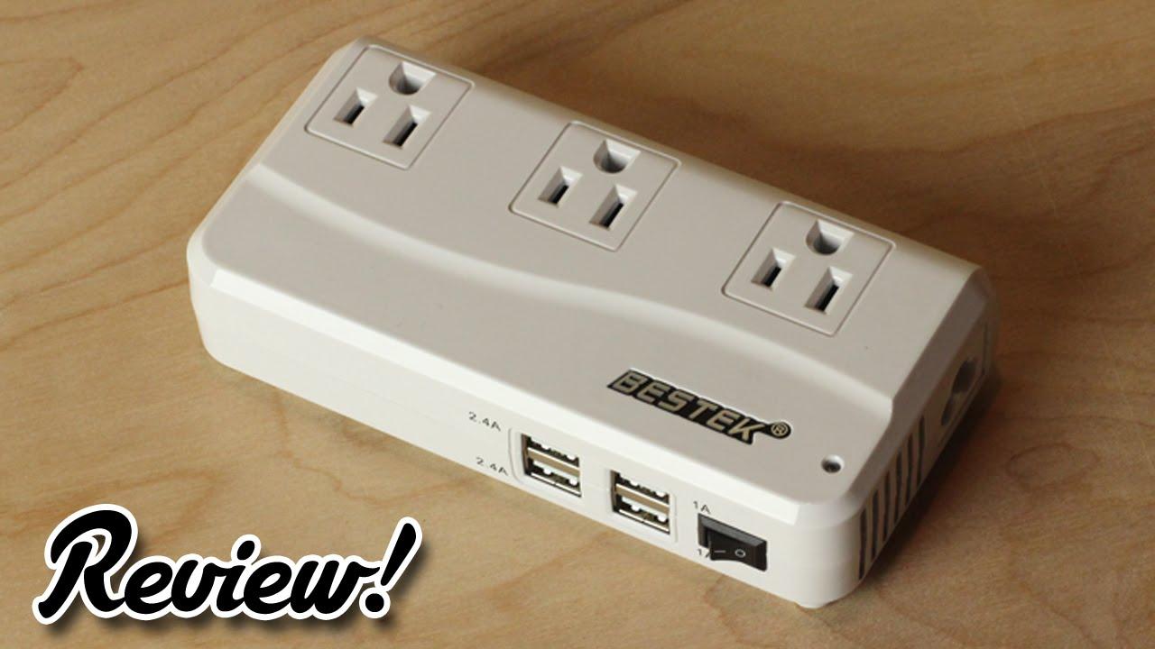 Review Bestek Portable Travel Adapter Amp Power Converter Mrj201gu Youtube
