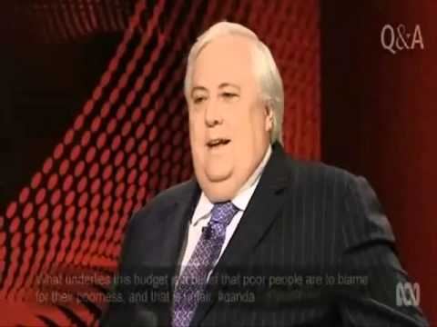 Clive Palmer DUMPS on the Budget