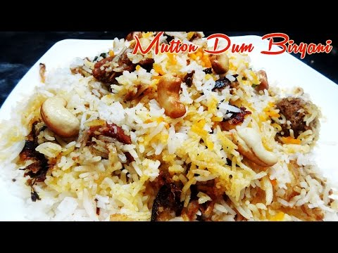 Mutton Dum Biryani Preparation in Telugu