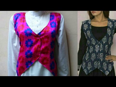 Designer lady/girl jacket DIY  How to make lady/girl jacket tutorial
