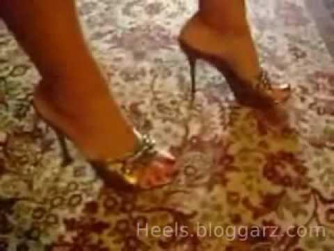 Woman walking in sexy High Heels