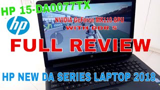 HP 15-DA0077TX LAPTOP REVIEW LATEST 2018.
