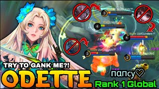 Butterfly Goddess Odette Beautiful Ultimate Counter Gank!! - Top 1 Global Odette пαпcy♡ - MLBB