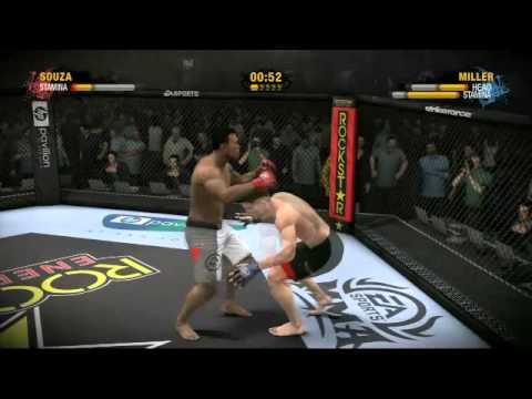 EA SPORTS MMA Quick Clip #10: Mayhem Miller vs. Jacare Full Gameplay Video with Commentary