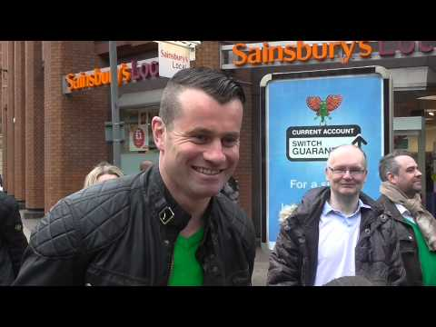 Manchester Irish Festival Parade 2014 with Shay Given.