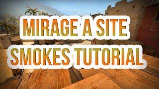 Mirage A Site Smoke Set CSGO 64 Tick 2018 - TrickyTorials