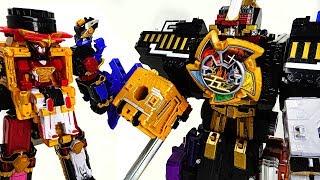 Power Rangers Doubutsu Sentai Zyuohger vs Ninja Steel combine! Wild Ride Ninja King - DuDuPopTOY