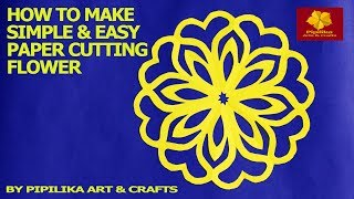 How to make simple & easy paper cutting flower designs| paper flower|DIY Tutorial by step by step.