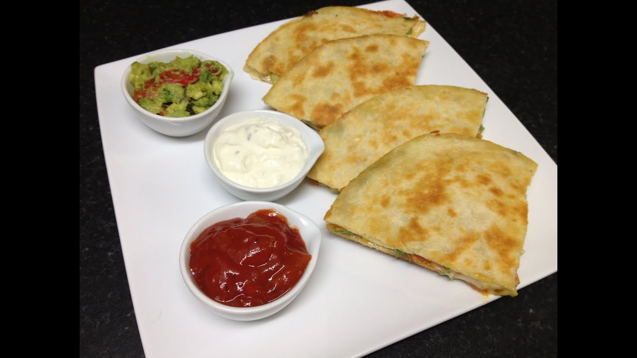Cheese Quesadillas With Guacamole