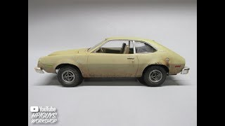 AMT 1977 Ford Pinto 1/25 Scale Model Kit Build Review and Weathering AMT1129