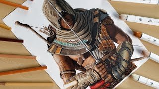 Speed Drawing: Bayek of Siwa (Assassin