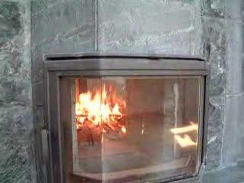 Tulikivi Sackett Brick Fireplace Oven See Through