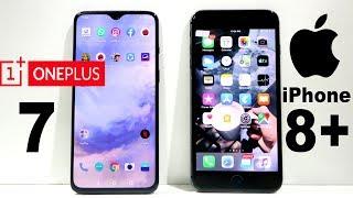 Oneplus 7 Vs iPhone 8 Plus Speed Test
