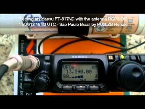 YAESU FT-817ND SWL with RGP3-OC Loop Antenna