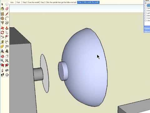 Sketchup woodturning tutorial