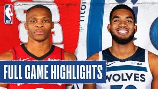 ROCKETS at TIMBERWOLVES | FULL GAME HIGHLIGHTS | January 24, 2020