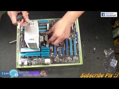 How to install CPU Fan Heatsink Air Cooler onto Motherboard ATX and mATX HD
