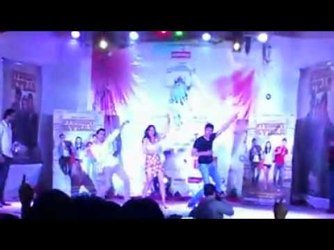 Student of the Year cast dances at R. A. Podar College.