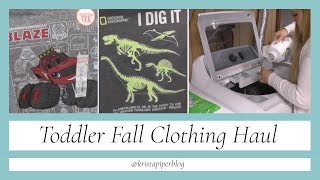Toddler Fall Clothing Haul | Toddler Laundry | 3T Boy Clothes