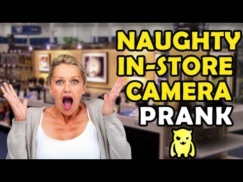Naughty In-Store Camera Prank (reupload)