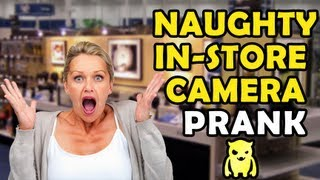Naughty In-Store Camera Prank