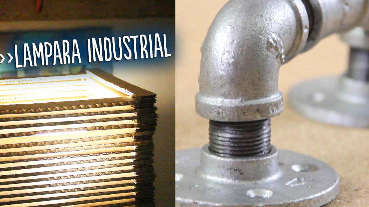 L mpara industrial de metal the boxtrolls youtube - Lamparas tipo industrial ...