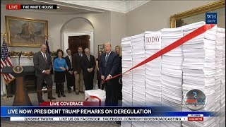 President Donald Trump CUTS the RED TAPE of REGULATION 12/14/17