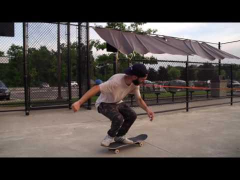 Joe Vizzaccero double heelflip hippie jump