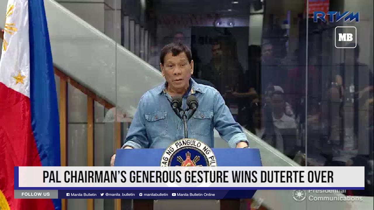 PAL chairman's generous gesture wins Duterte over