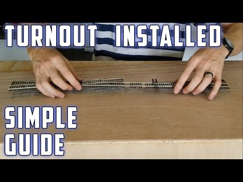 Model Railroad - How To - Laying turnouts