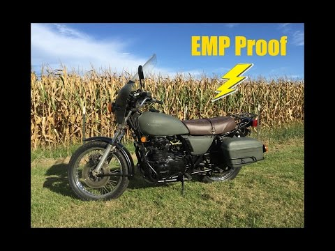 EMP proof Bug Out Bike B.O.B. Bug Out Motorcycle B.O.M.